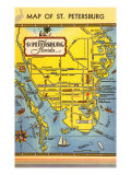 Map of St Petersburg  Florida