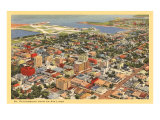 Aerial View of St Petersburg  Florida