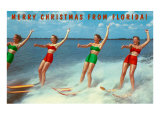 Water Skiers  Merry Christmas from Florida