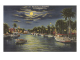 Moon over Ft Lauderdale  Florida