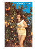 Lady with Oranges  Florida
