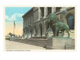 Art Institute  Lion Statue  Chicago  Illinois