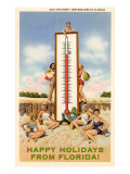 Happy Holidays from Florida  Bathing Beauties with Thermometer