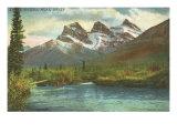Three Sisters  Near Banff  Alberta