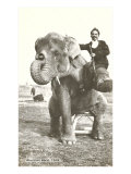 Circus Elephant and Trainer  1915
