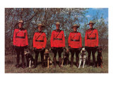 Canadian Mounties with Dogs