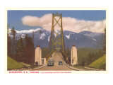 Lions Gate Bridge  Vancouver  British Columbia