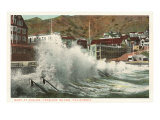 Surf at Avalon  Catalina  California