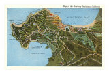 Map of Monterey Peninsula  California