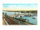 Docks on Pequonnock River  Bridgeport  Connecticut