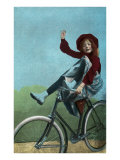 Girl Trick Riding on Bicycle