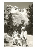 Indians in front of Mt Rushmore  South Dakota