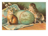 Easter Greetings  Kittens with Large Egg