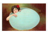 Girl Emerging from Cracked Egg