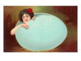 Girl Emerging from Cracked Egg