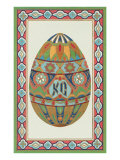 Decorative Art Egg Motif