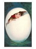 Girl in Cracked Egg
