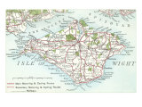 Map of the Isle of Wight  England