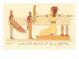 Rendering of the Goddess of Truth and Justice (Maat) Egypt