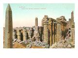Colonnade  Obelisk  Karnak  Egypt