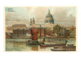 St Pauls  Thames  London  England