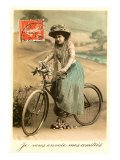 French Woman with Bicycle