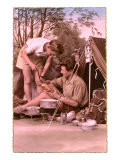 French Camping Couple