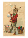 Joyous Easter  Spectacled Rabbit Painting Egg