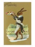 Easter Greetings  Rabbit Waiter