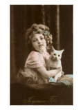 Joyeuse Fete  Girl with Cat