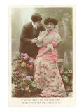 French Couple with Flowers