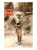 Bonne Annee  Boy with Branches
