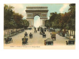 Arc de Triomphe  Champs Elysees  Paris  France