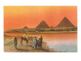 Pyramids from across the Nile  Egypt