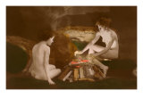Naked Women by Campfire