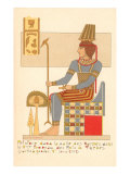Rendering of Frieze from Theban King Tomb  Egypt