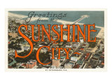 Greetings from Sunshine City  St Petersburg  Florida