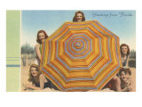 Bathing Beauties and Umbrella