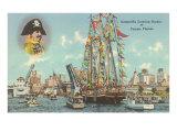 Gasparilla Entering Harbor  Tampa  Florida