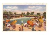 Hotel Pool  Miami Beach  Florida