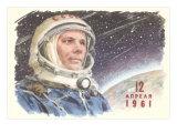 Yuri Gagarin in Cosmonaut Outfit