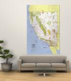 1974 Close-up USA  California and Nevada Map