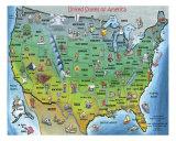 USA Cartoon Map