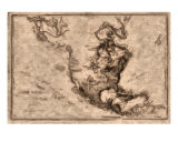 World Treasures Carribbean Old Pirate Map