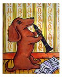Dachshund Playing The Clarinet