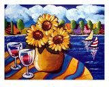 Sunflowers  Sailboats