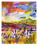 Summer In Provence Landscape By Ginette