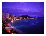 Waikiki Beach At Twilight