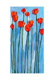 Poppies On Blue - 2 Of 3