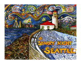 Alki Point Starry Night